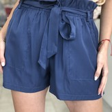 Skylar Belted Shorts with Front Pockets