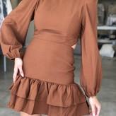 Maia Open Back Romantic Mini Dress