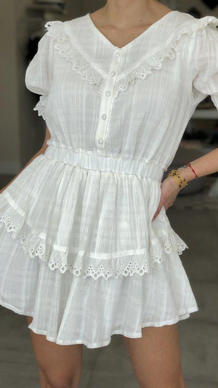 Luella Lace Trim Mini Dress