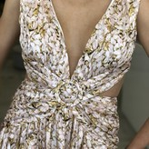 Denise Floral Sleeveless Ruffle Maxi Dress