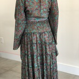 Isla Ivys Silk Skirt with Shirt Set (2 piece)