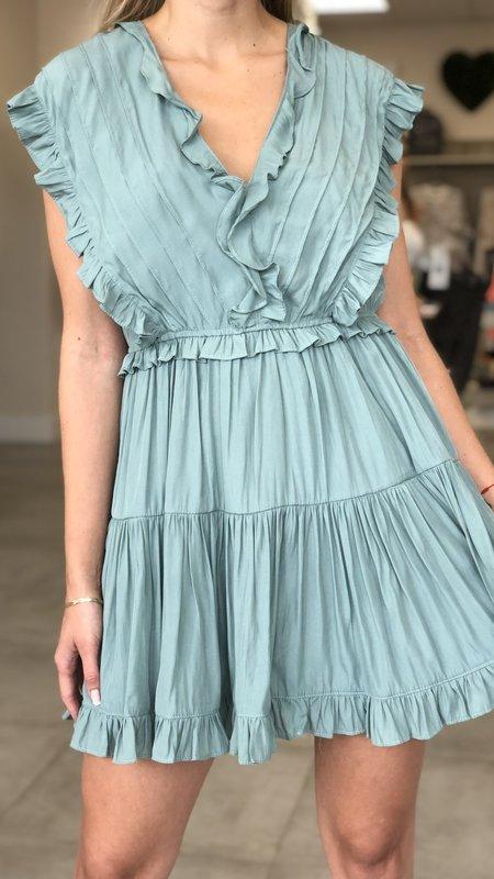 Erika Ruffle Detail Dress
