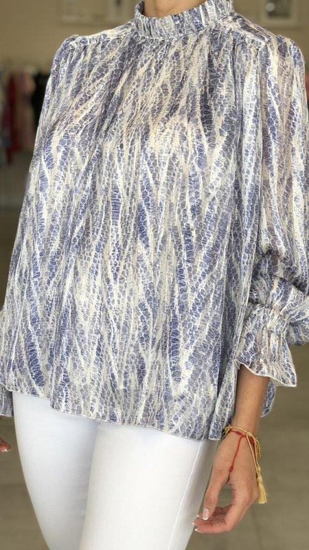Mila Snake Skin Print Blouse Longsleeve