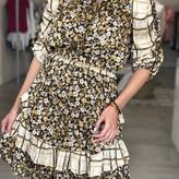 Laura 3Q Shortsleeve Ruffled Mini Dress