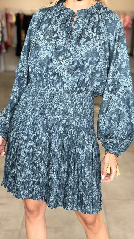 Nova Longsleeve Pleated Mini Dress