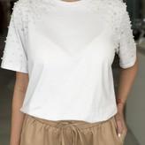 Anita Shortsleeve T-Shirt w/ Embellished Sleeves