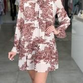 Addison V Neck Dress w/ Ruffle