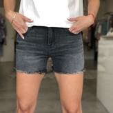 Amy Finn Basic Mid Rise Fray Shorts