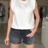Deborah Sleeveless T-Shirt w/ Shoulder Pads