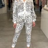 Adele Tiger Print Long Sleeve Cardigan