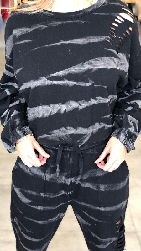 Elise Distressed Long Sleeve Sweater