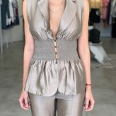 Brianna Smoked Waist Vest