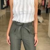 Tina Rayed Fringe Sweater Top