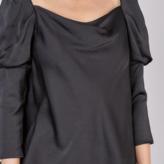 Alana Puff Sleeve Draped Blouse