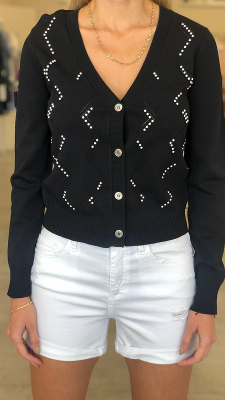 Emery Cardigan With Pearl Detail