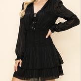 Christina Long Sleeve Smocking Waist Dress