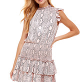 Denise Short Sleeve Ruffle Dress