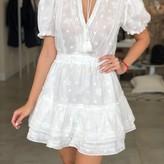Amari eyelet Lace Mini Ruffle Dress