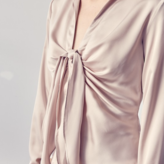 Giana Front gather Tie Collar Blouse