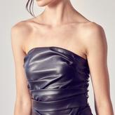Yasmin Vegan Leather Crop Top