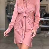 Raquel Front Tie Button Down Short Dress