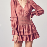 Octavia Ruffle Detail Smocked Waist Dress