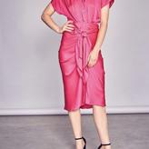 Margarita Button Up Front Tie Detail Dress