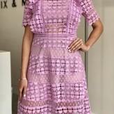 Estelle Ruffle Detail Short Sleeve Lace Dress