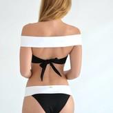 Black & white off the shoulder bikini/ macca