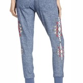 Indigo Embroidered Drawstring Joggers