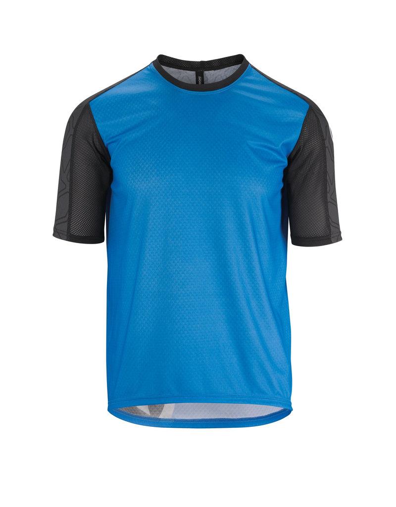 Assos Assos Trail Short Sleeve Jersey Corfu Blue Medium