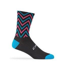 Capo Capo Vivo Black/Cyan Socks size L/XL