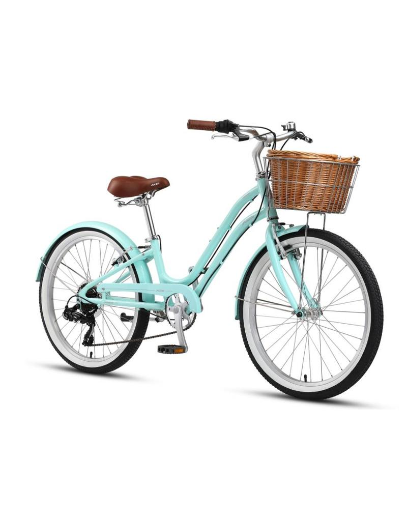 XDS 24inch Sorrento Girls Beach Cruiser Deep Mint