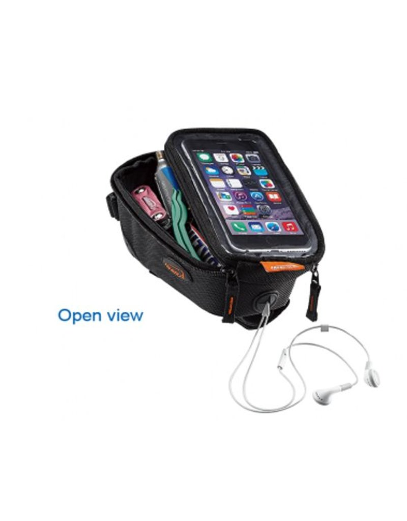 Ibera top tube pouch with phone sleeve
