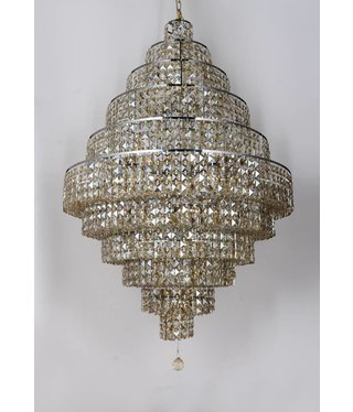 "ESSENCE-H W30""X36''H CHROME/ TEAK CRYSTALS"