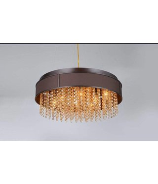 """GHANA-R W24""""X9""""-47""""H DARK BROWN SHADE WITH CRYSTALS 8L"""