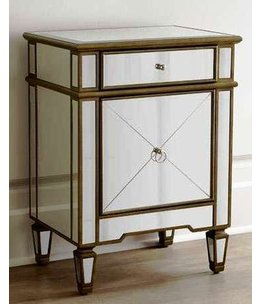 HALMSTEAD 20X16X24 ANTIQUE GOLD NIGHT STAND