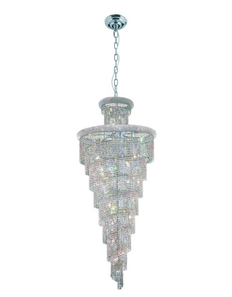 1040H-W48''H96'' CHROME HANGING CHANDELIER