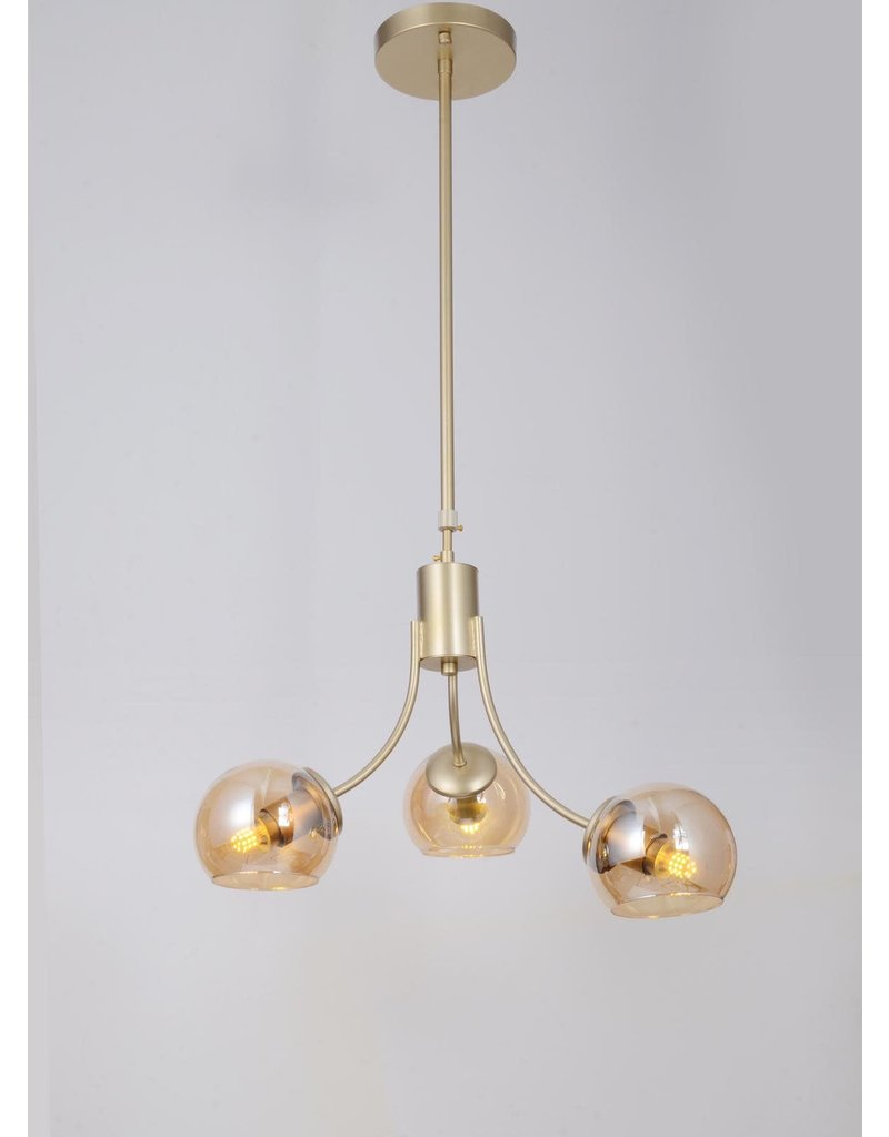 SHINE - HANGING  L13 X H20 - 3 LIGHTS - ROSE GOLD