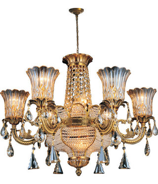 68880W24AG 12 LIGHTS ANTIQUE GOLD