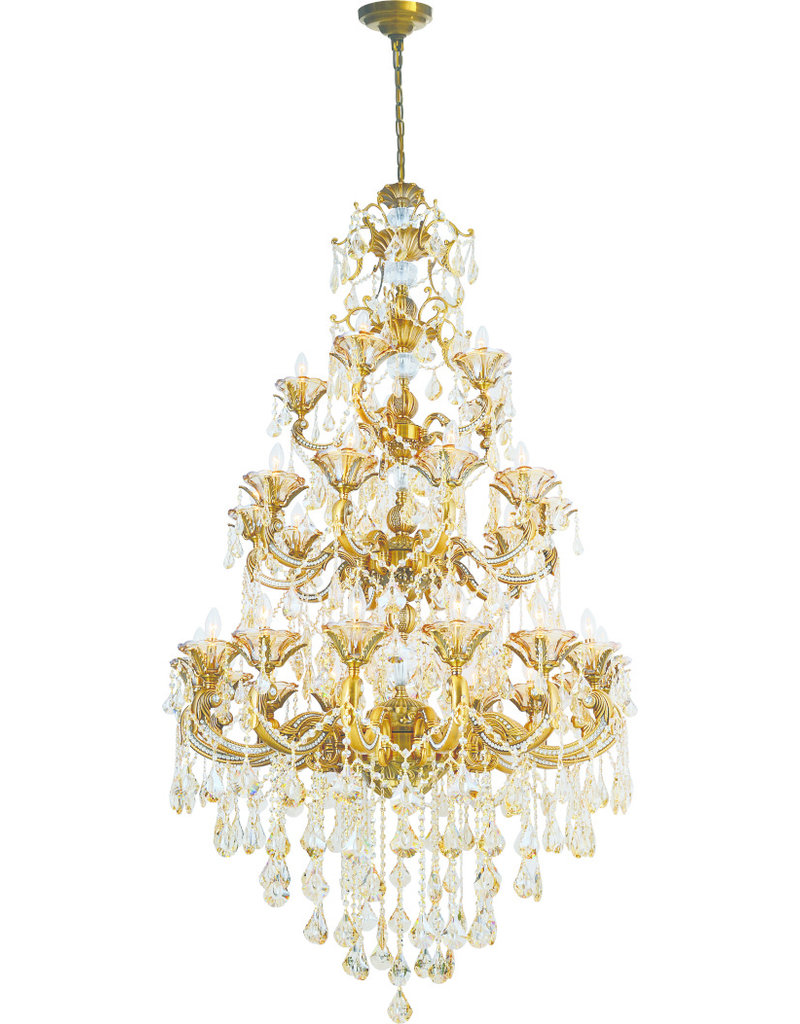 86029H-15+10+5 LIGHT CHROME CHANDELIER D44''H86''