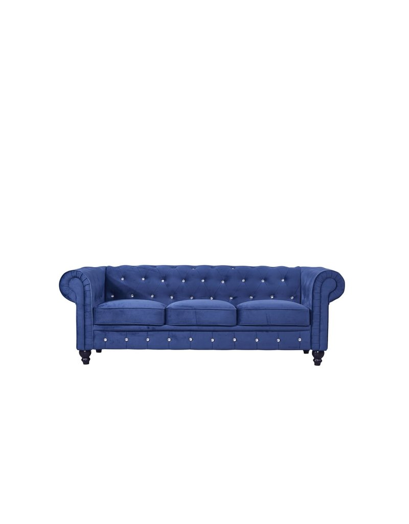 BLUE FURNITURE SOFA D29''W77''H29'' LOVE SEAT D29''W66''H29'' CHAIR D29''W38''H29''