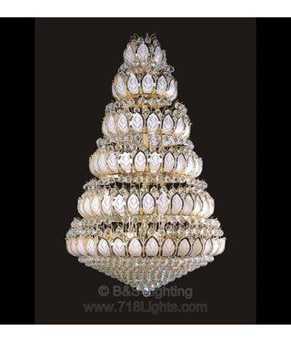 B&S Lighting 81519H-W42H72 INCH /65LIGHTS/CRYSTAL:837/ GOLD LED (CB749)(FO1023)