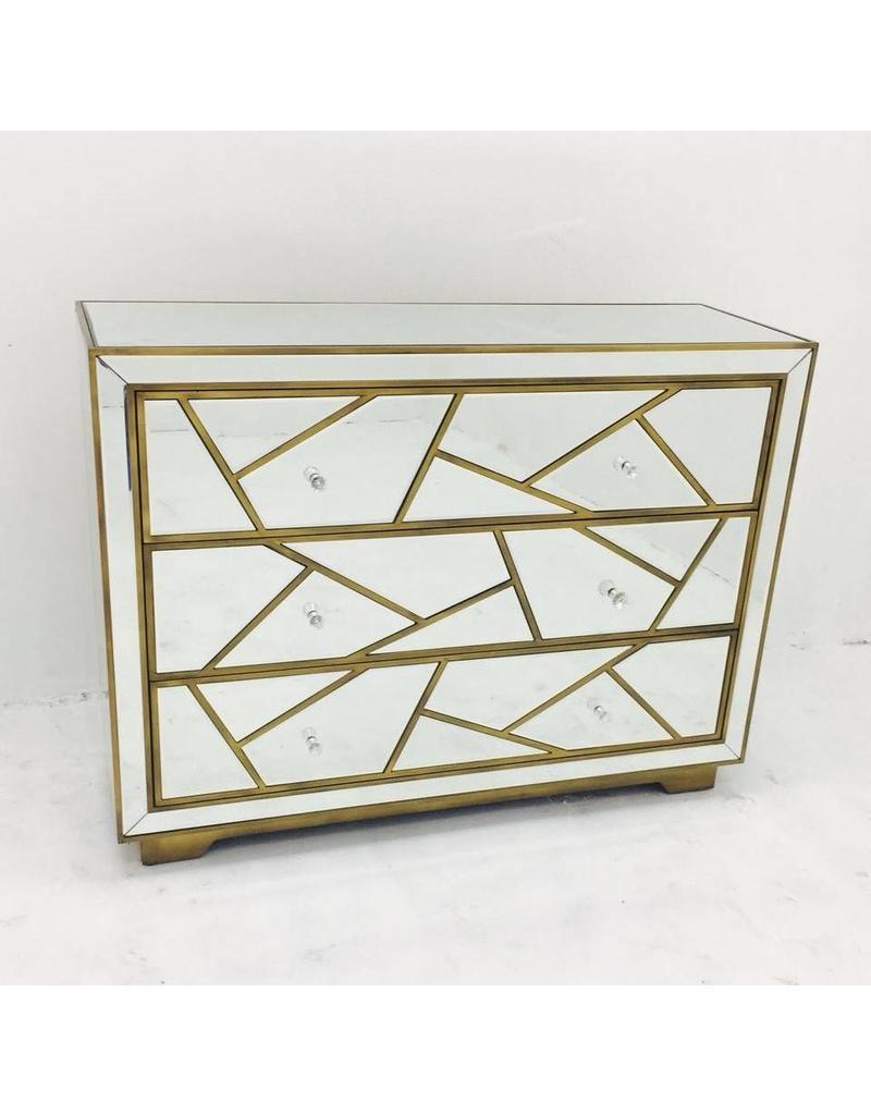 B&S Lighting JENNI D 8009, ANTIQUE GOLD FINISH, 47.24X15