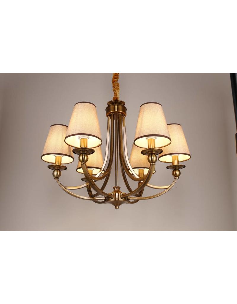 B&S LIGHTING CAROLINA 6L W28' H21' BRONZE FINISH