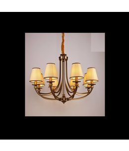 B&S Lighting B&S LIGHTING CAROLINA 8L W35' H26' BRONZE FINISH
