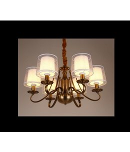 B&S Lighting B&S LIGHTING TEXAS 8L W33' H12' BRONZE FINISH
