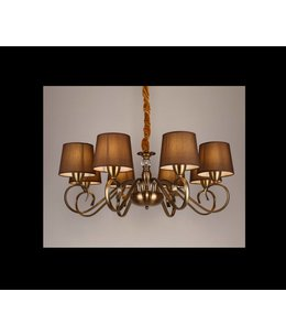 B&S Lighting B&S LIGHTING HAWAII 8L W31' H11' BRONZE FINISH