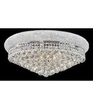 B&S Lighting 1006F-16X8 CHROME CHANDELIER FLUSH BAGEL STYLE (CB61)(FO117)