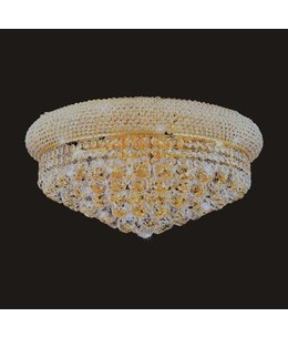 B&S Lighting 1006F-16X8 GOLD CHANDELIER FLUSH BAGEL STYLE (CB61)(FO117)